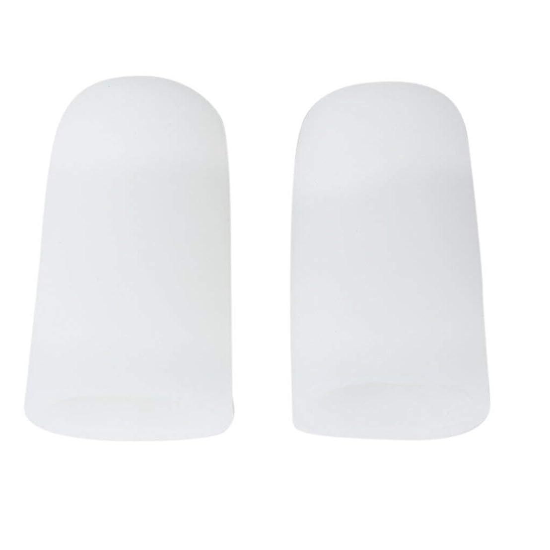 ご意見ダイヤモンド上昇TSUCIA 足指保護キャップ つま先プロテクター 足先のつめ保護キャップ シリコン (M)