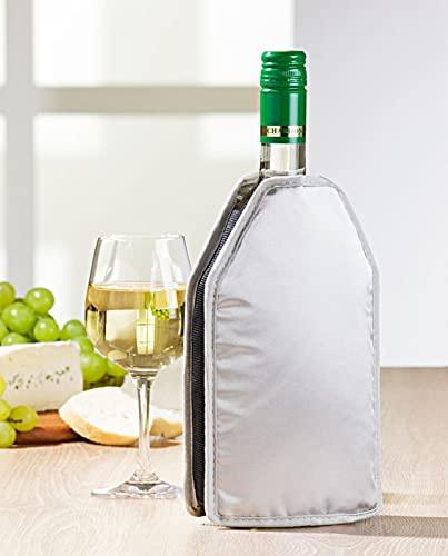 Manicotto refrigerante per bottiglie da 0,5 – 0,75 litri e lattine, refrigeratore per bottiglie e bottiglie di vino, refrigeratore per bottiglie, ghetta di raffreddamento integrata (1)