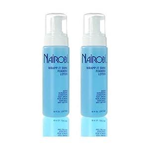"Beauty Shopping Nairobi Wrapp-It Shine Foaming Lotion 8 fl. oz. (237 ml)""Pack of 2″"