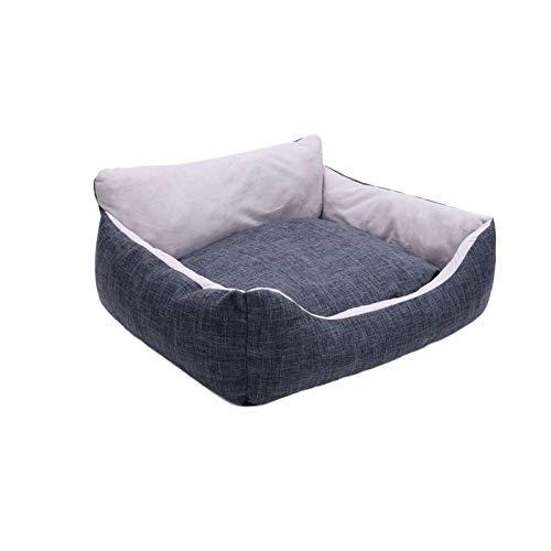 Jannyshop Rectangle Hundebett Doppelseitige Katzenhunde Schlafkissenmatte mit Rutschfestem Silikontuch, Katzen und Hundebett mit Abnehmbarem Waschbarem Bezug
