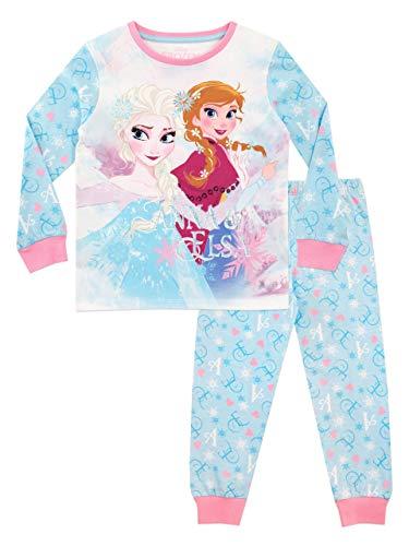 Disney Mädchen Die Eiskönigin Schlafanzug Frozen (122 (Herstellergröße: 6-7 Jahre))