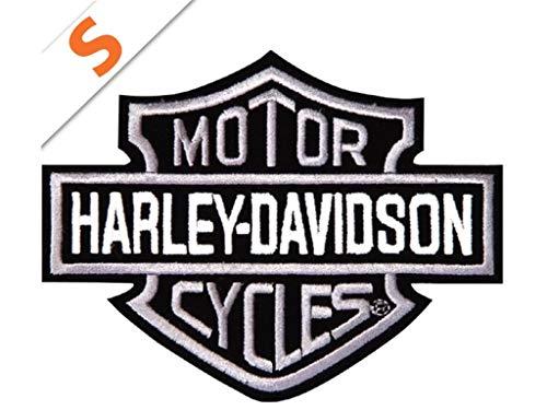 Harley-Davidson Aufnäher B&S Silber Mini