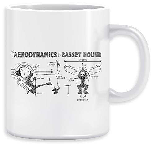 The Aerodynamics Of A Basset Ho& Kaffeebecher Becher Tassen Ceramic Mug Cup
