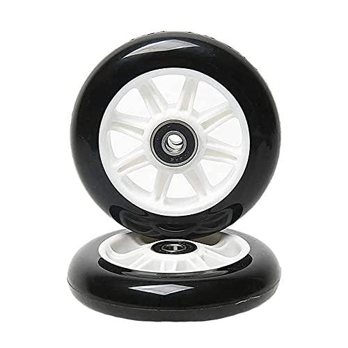Wxnnx Ruedas de Scooter de 125 mm para Ruedas de Repuesto con rodamientos (Paquete de 2),D