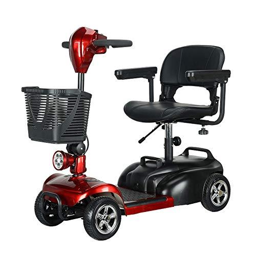 Elektrische scooter, 4 wielen, inklapbaar, maximale draagkracht 150 kg, verstelbaar in meerdere posities, lithium accu 20 Ah met LED-licht en USB-oplaadpoort, bereik 40 km.