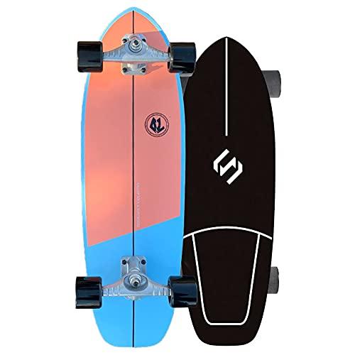"""YHNJI Patinetas para Principiantes Skateboard Completa de 29.5"""" x 9"""" Pro 7 Capas de Arce Doble Patada Cóncava con Rodamientos ABEC-9 y Tabla Completa para Adolescentes y Niños Adultos"""