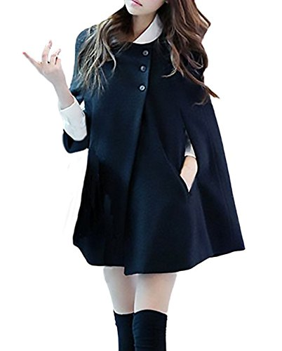 YMYY-Kleider Damen Strickjacken Cardigan Fledermaus Batwing Wolle Ponchos Mantel Coat Outerwear Winter Capes Parka Jacke