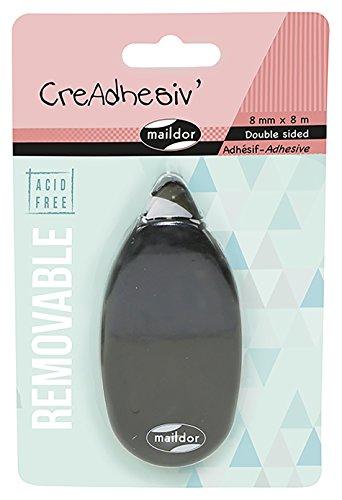Maildor creadhesiv 'Distributeur Adhésif Double Face, 8 étiquettes, Blanc/