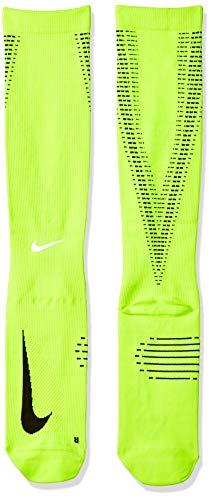 Nike U NK ELT COMP OTC - Unisex Socken,gelb (Volt / Schwarz / Reflektierendes Silber), 42-46