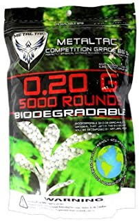 MetalTac Airsoft BBS Bio-Degradable .20g Perfect Grade High Precision 6mm BB Pellets (Bag..
