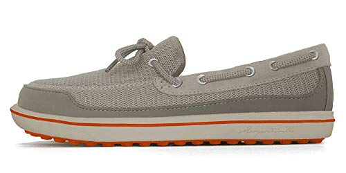 Margaritaville Men's Athletic Golf Shoe, Tap in Beige/Orange