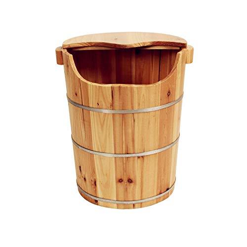 FAP Pedicure-bekken, 45 cm, hoog, van hout, badkuip, voetbad voor het inweken van de voeten, massage Spa sauna middeleeuwen en leeftijdsgroepen, cadeau, hout kleur 2