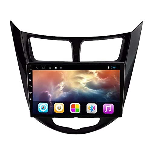 GOHHK Android 9.0 9 Pulgadas Carplay 4G WiFi DSP BT Radio Player para Hyundai Solaris 2010-2016 Sedan Head Unit GPS Navigation DVD(Size:Cuatro nucleos,Color:WiFi:2GB+32GB)
