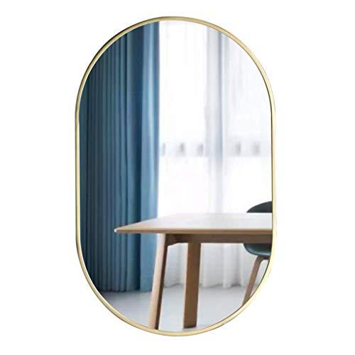 Light up Life/Metal Rectangular Marco del Espejo Biselado Espejo de baño Simple Oval Pared Espejo montado en la Pared de Cristal del Espejo Vestir Espejo Espejo de baño Espejo de Maquillaje de Oro