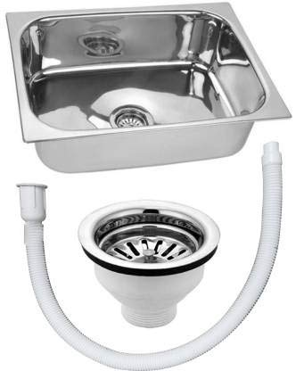 CROCODILE 304 Grade Stainless Steel Single Bowl Kitchen Sink (24 X 18 X 9 Inches)