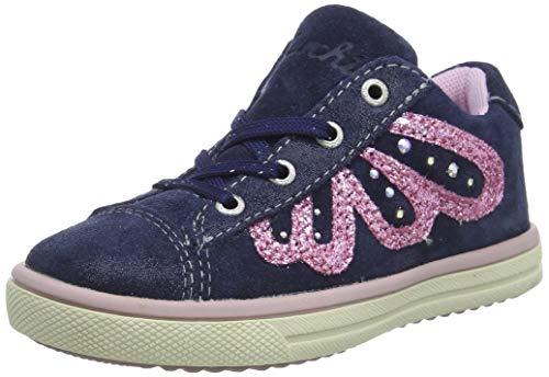 Lurchi Mädchen Sibell Sneaker, Blau (Navy 22), 34 EU