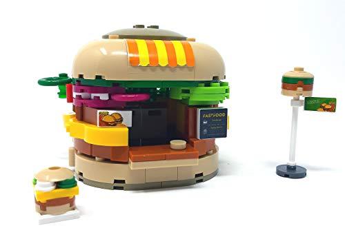 Modbrix Bausteine Haus City Burger Imbiss Verkaufsstand, 276 Klemmbausteine