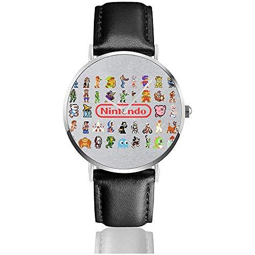 Consola de Juegos Retro Estilo Pixel Personajes Collage Relojes Reloj de Cuero...