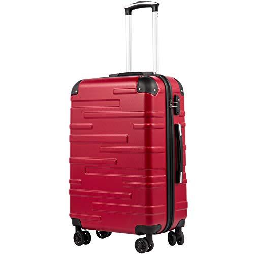 COOLIFE Hartschalen-Koffer Rollkoffer Reisekoffer Vergrößerbares Gepäck (Nur Großer...
