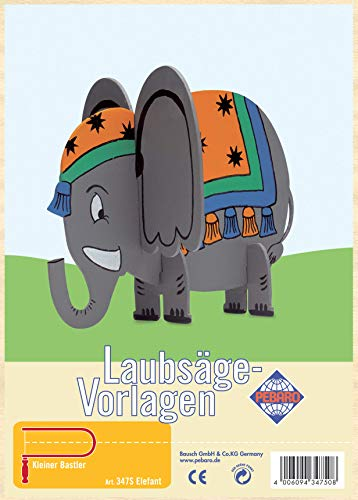 Laubsägevorlage aus Sperrholz Motiv Elefant