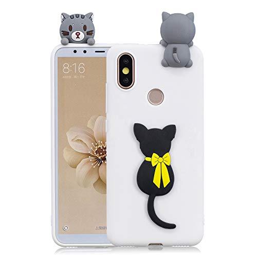 Huphant Compatible for Samsung Xiaomi Mi A2 hülle, Huawei Honor 9 Lite hülle Silikon, Huawei Honor 9 Lite Silikon Case,Ultra Protective Schutzhülle für Huawei Honor 9 Lite -Schwarze Katze