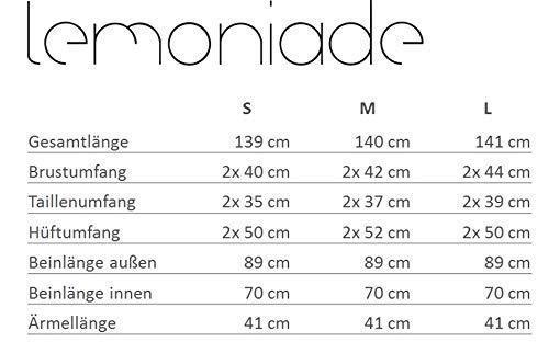 Lemoniade eleganter Jumpsuit mit 3/4-Ärmel und elegantem Wasserfallkragen, schwarz - 4