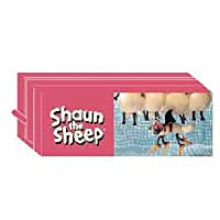 ひつじのショーン スクエアポーチ (ピンク) Shaun the Sheep