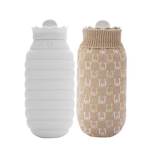 Elise Hot Water Fles 620ml met zachte gebreide cover lang warm water fles honing pot vorm