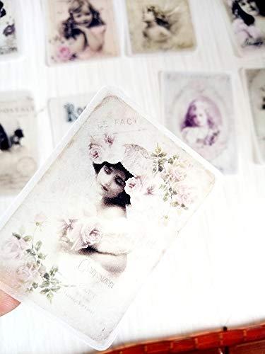 BLOUR Nikier 33PCS Retro viktorianische Mädchen Schwefelsäure Papier Aufkleber Transparente Briefpapier Dekoration DIY Tagebuch Album Aufkleber