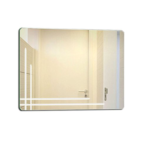 ZfgG Wandgemonteerde badkamerspiegel, randloze badkamerspiegel, hangende wasspiegel, kaptafel spiegel