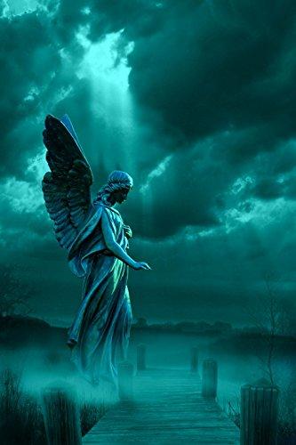1art1 Gothic - Engel Der Verlorenen Welt Selbstklebende Fototapete Poster-Tapete 180 x 120 cm