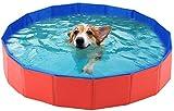 Hoom Piscina Plegable para Perros Gatos Bañera Portátil para Mascotas Plegable PVC Antideslizante y Resistente al Desgaste (120 * 30CM)