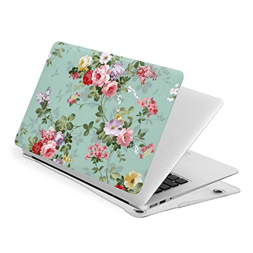 MacBook Pro 13 Inch Case Vintage Floral Flowers Pattern Hard Laptop Shell Case Cute Protective Laptop Cover