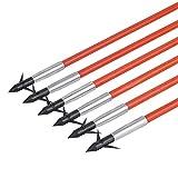 HRCHCG Flèches de Chasse de pêche de 32 Pouces Flèches de Fibre de Verre de pêche à l'arc pour l'arc de tir à l'arc (12...