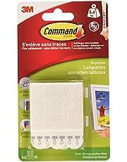 Command 57708 Bandes de Suspension pour Cadre - 8 pièces, Blanc, Taille M