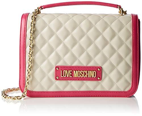 Love Moschino Borsa Quilted Nappa Pu, Mano Donna, Rosa (Fuxia), 6x19x28 cm (W x H x L)