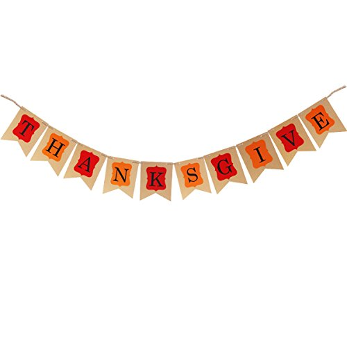 OULII THANKSGIVE Bunting bannière Thanksgiving Day Party Decoration guirlande accessoires pancartes