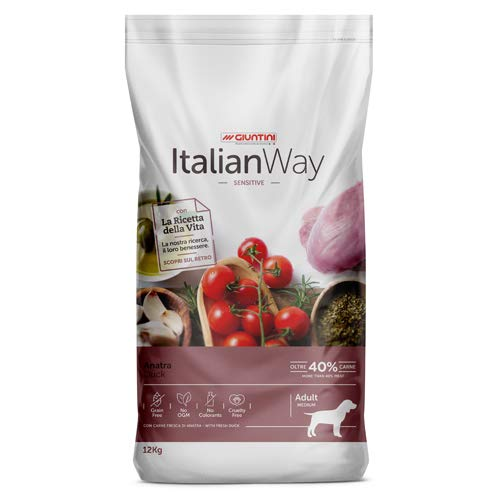 Italian Way Cibo per Cani Sensitive Anatra - Adult - Medium - 12 kg
