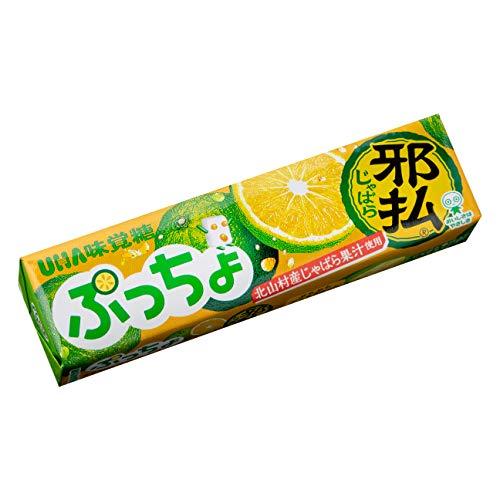 UHA味覚糖 ぷっちょスティック じゃばら 10粒 ×10個