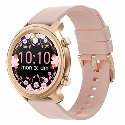 Reloj Inteligente para Hombre Mujer, Rastreador de Ejercicios con Llamada Micrófono Altavoz IP67 Resistente al Agua Frecuencia Cardíaca Sueño Podómetro Monitor de Calorías para Android y iPhon