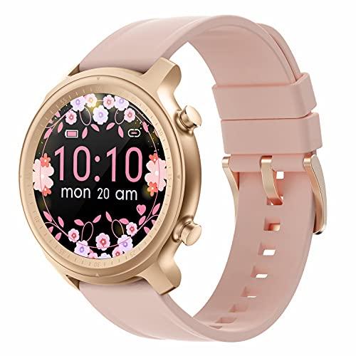 Reloj Inteligente para Hombre Mujer, Rastreador de Ejercicios con Llamada Micrófono Altavoz IP67 Resistente al Agua Frecuencia Cardíaca Sueño Podómetro Monitor de Calorías para Android y iPhone