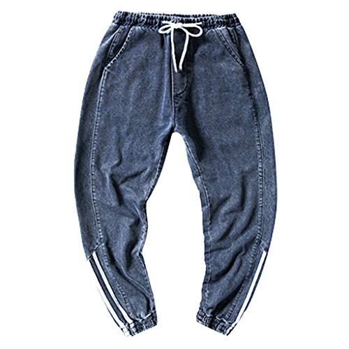 ZODOF Pantalones De Carga PantalóN De Trabajo De Combate para Hombres Pantalones de Trabajo de Empalme Pantalones Deportivos de Bolsillo Casual Pantalones de Trabajo Casual,Azul