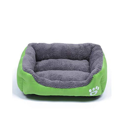 star-xing Schnupftabakmatte für Hunde Hundebett Haustierprodukte Pfotenabdruck Zwinger für kleine mittelgroße Hunde Welpennest Weiches warmes Katzenbett Wasserdichtes Haustierhaus-Hellgrün-M 54x42cm,