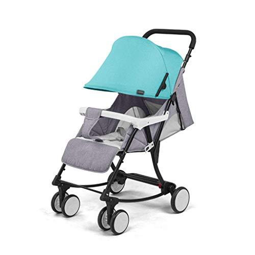 min min Las sillas 2 en 1 Cochecito de bebé Pueden Cambiar a Baby Rocking Cradle Compact PLOW BEBY Carriage Recién Nacido Bebé Comodidad Silla (Color: Gris) (Color : Light Green)