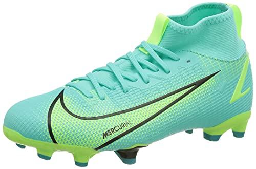 Nike JR Superfly 8 Academy FG/MG, Scarpe da Calcio, Dynamic Turq/Lime Glow-off Noir, 38.5 EU
