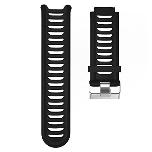 Lokeke Ersatz-Silikonband für Garmin Forerunner 910XT, Schwarz