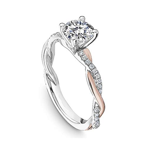 Clearance Deals Rings,Silver Ring Womens Diamond Engagement Wedding Band Rings Jewelry Gift for Moms (Multicolor, 9)