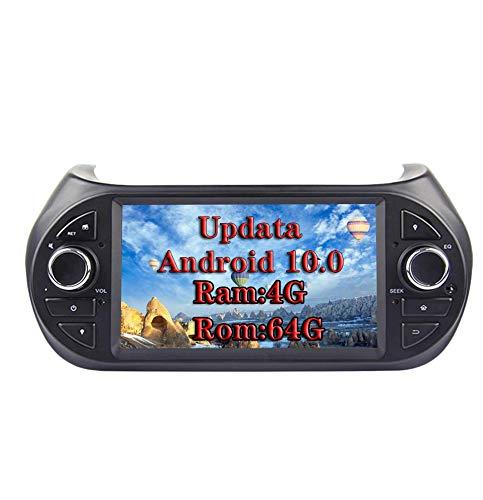 XISEDO 7' Android 9.0 Autoradio 8 Core In-dash Car Radio RAM 4G ROM 32G Car Stereo per Fiat Qubo/Fiat Fiorino/Peugeot Bipper/Citroen Nemo(Autoradio)