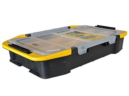Stanley Kombi-Werkzeug-Organizer / Kombi-Aufbewahrungsbox (50.7x29x9cm, Werkzeugkoffer mit Clip Verbindungssystem, stapelbar, stabiler Organizer mit abnehmbaren Deckel) STST1-71983