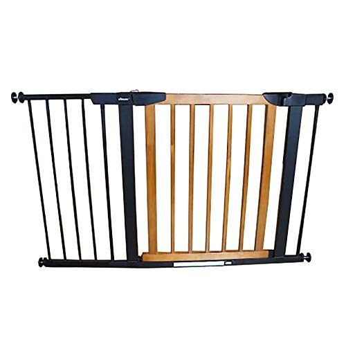 Lowest Prices! WCBIN Auto-Close Baby Walk Through Gates for Stair Banisters Doorway, Pressure Fit Sa...